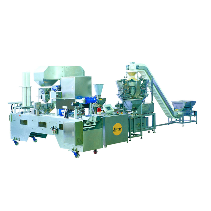 CUP-FILLINGsystem Aut. Multilane cup/container filling/film sealing machine ML2-40