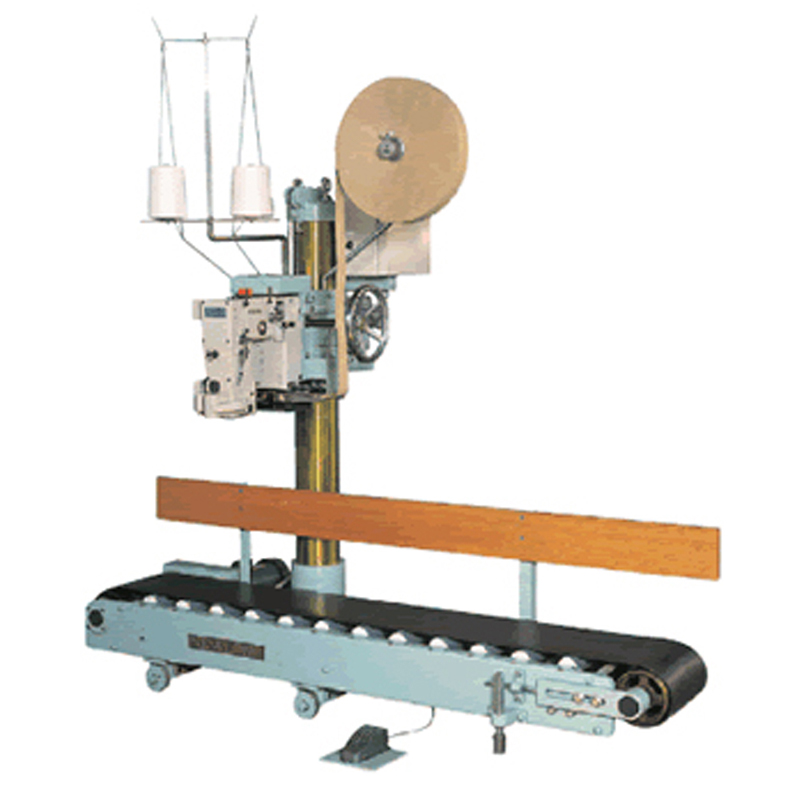 FILLINGmachine Sewing Machine with motorized conveyor for large 10-50kg bags