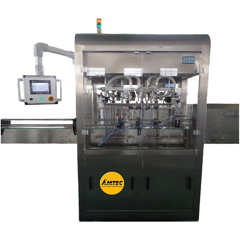 AMTEC FILLINGmachine Fully Automatic Liquid Filler with 4 Heads (new version)
