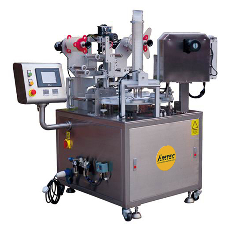 Zoom: CUP-FILLINGsystem Aut. Rotary cup/container filling/film sealing machine RT8-20