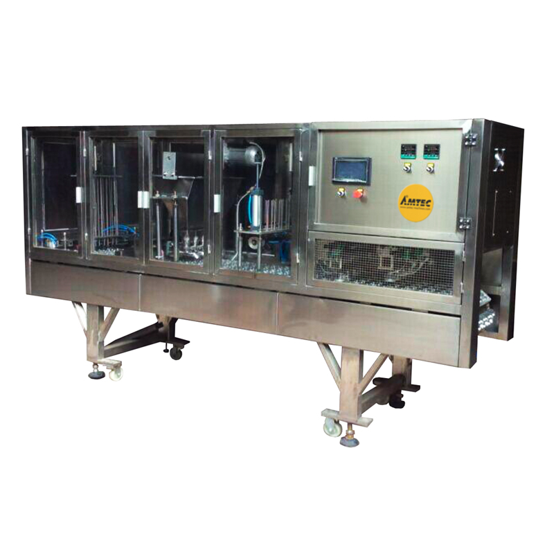 Zoom: AMTEC CUP-FILLINGSYSTEM - Coffee Powder Capsule Filling and Sealing Machine - 8 lane