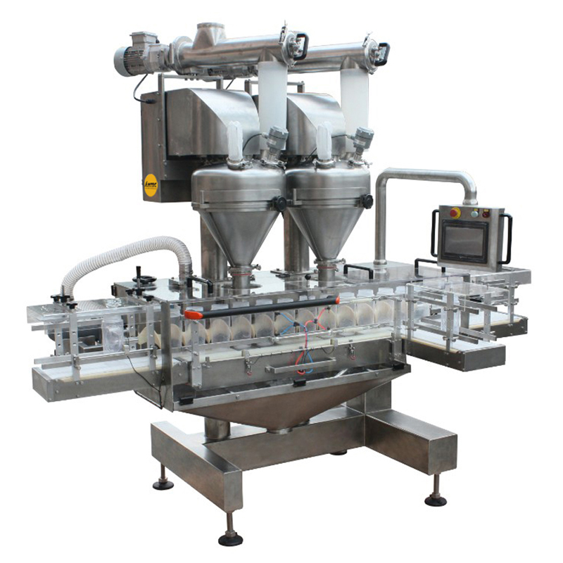 Zoom: FILLINGmachine Fully Automatic straight transport Double Auger Filler 10-5000g