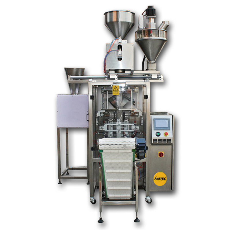 Zoom: VERTIwrap Multi-Feed-Coffee-Packaging System (Auger- AND Volume-Dosing)