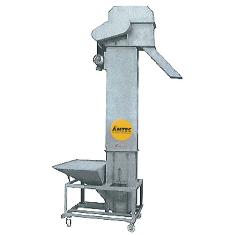 Zoom: VERTIwrap infeed bucket conveyor for large volumes