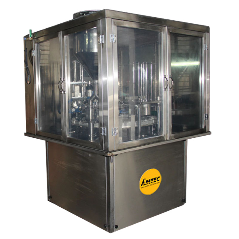 Zoom: AMTEC CUP-FILLINGsystem Aut. Rotary cup/container filling/film sealing machine RT20-Liquid