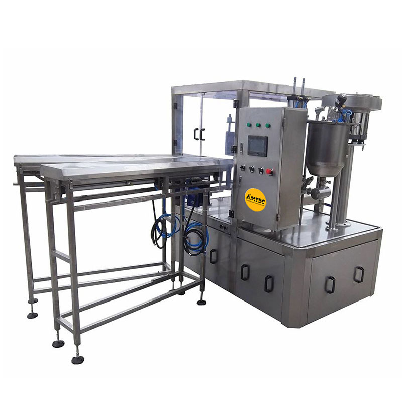 Zoom: AMTEC HORIZONpack Rotary Doypack Filling and Capping Machine SP 33