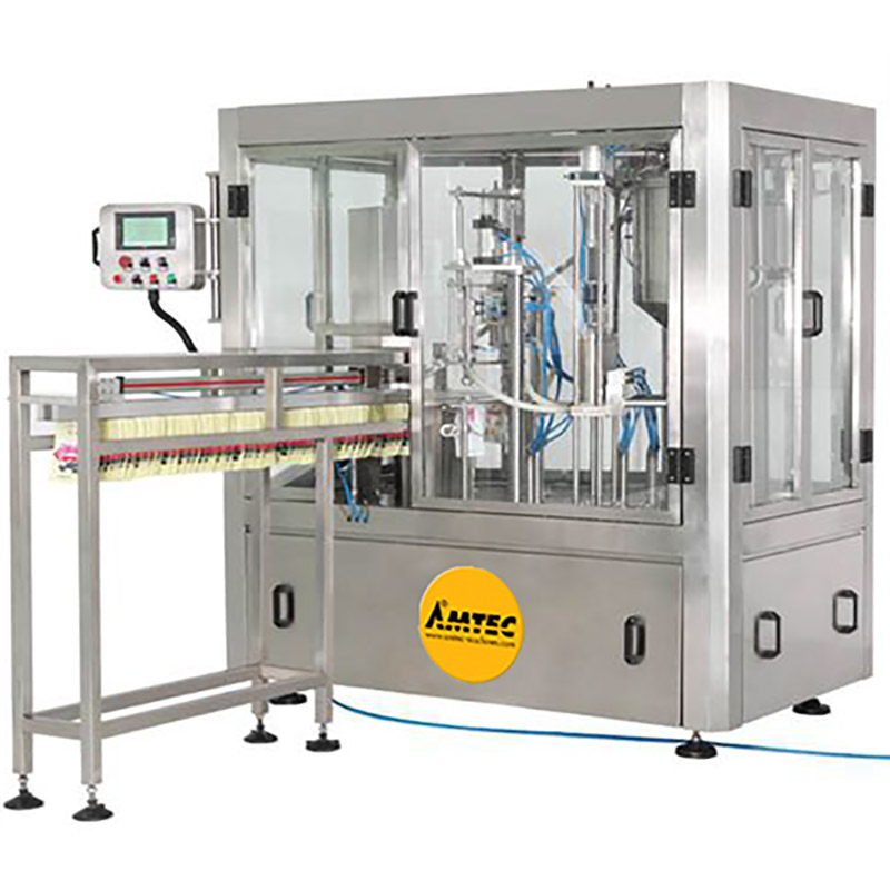 Zoom: AMTEC HORIZONpack Rotary Doypack Filling and Capping Machine SP 108